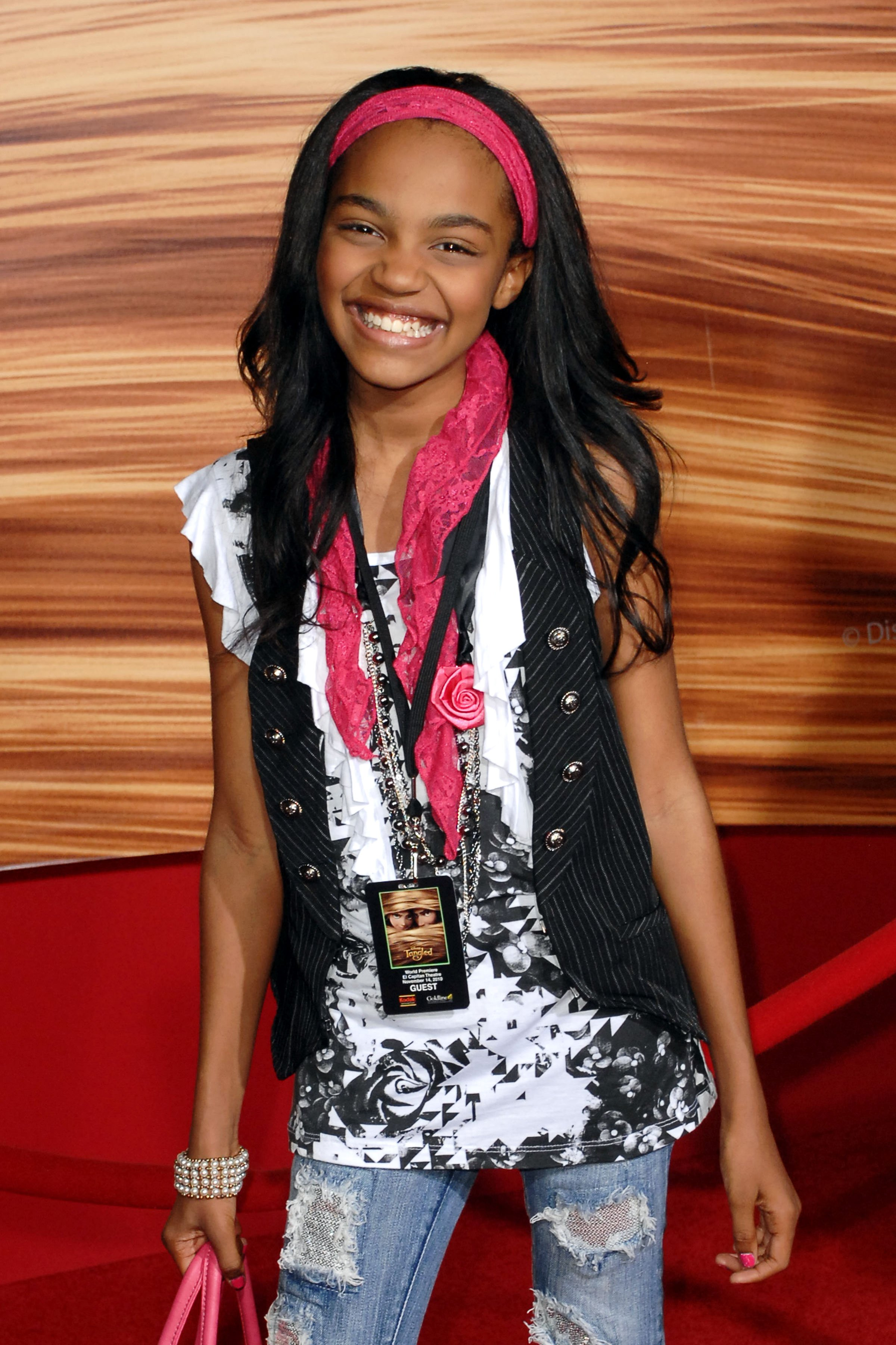 """China McClain attends the world premiere of """"Tangled"""" on November 14, 2010 