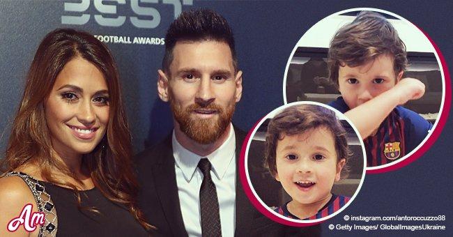 Antonella Roccuzzo, esposa de Leo Messi, comparte adorable video de su niño cantando