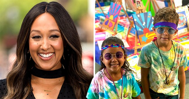 Tamera Mowry's Kids Aden and Ariah Sport Matching Hippie-Style Outfits in a Cool Picture