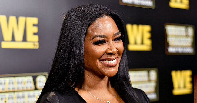 Kenya Moore Dotes on Her Adorable 1-Year-Old Daughter as She Shows off Her Baby Hair