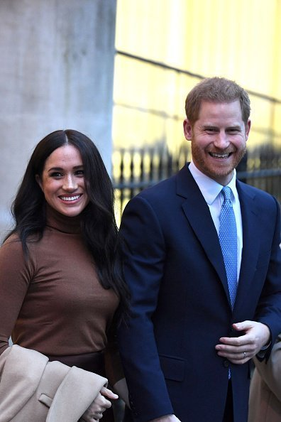 Prince Harry and Meghan, leave after their visit to Canada House on January 7, 2020 | Photo: Getty Images