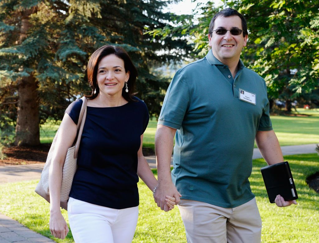 Sheryl Sandberg and David Goldberg arrive for the morning session of the Allen & Co. annual conference on July 10, 2013, in Sun Valley, Idaho   Photo: Kevork Djansezian/Getty Images