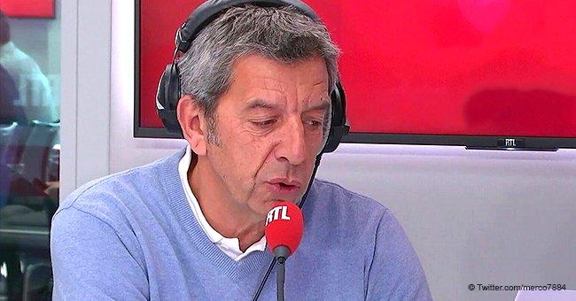 Photo de Michel Cymes durant un entretien avec RTL. Twitter/merco7884