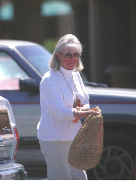 Doris Day walks to a car while sharing her 65th birthday with friends April 5, 2000, in Carmel, CA. | Source: Getty Images.