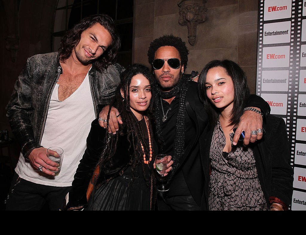 Jason Momoa, Lisa Bonet, Lenny Kravitz and Zoe Kravitz at Entertainment Weekly's Party to Celebrate the Best Director Oscar Nominees held at Chateau Marmont on February 25, 2010 | Photo: GettyImages