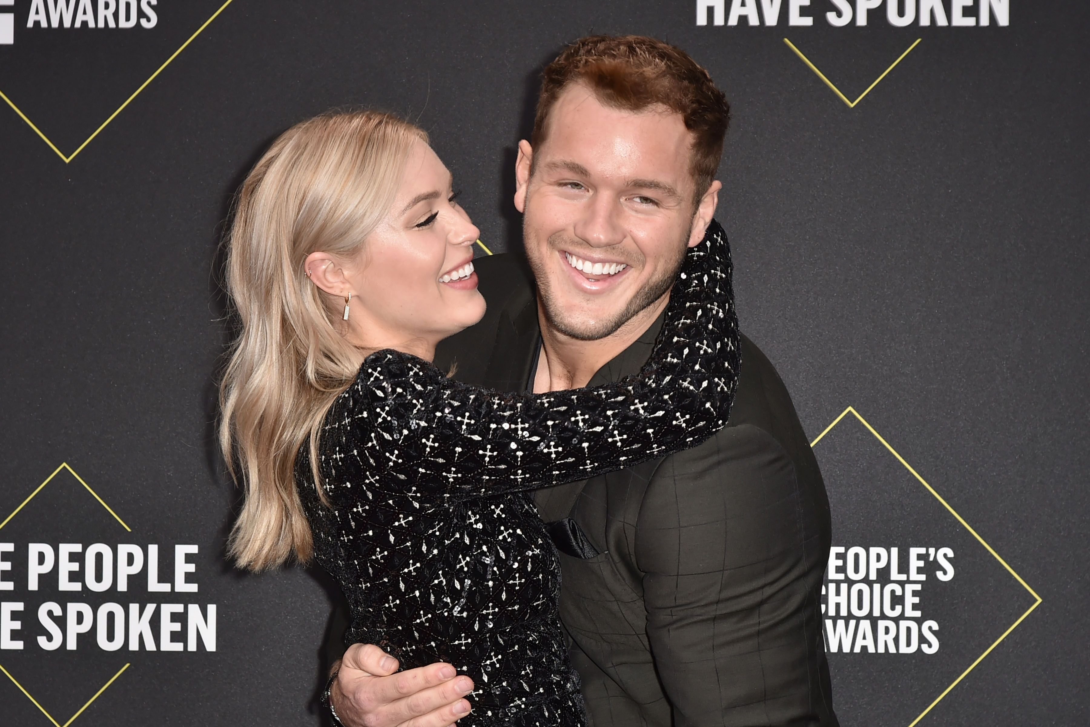 Cassie Randolph and Colton Underwood during E! People's Choice Awards 2018 - Arrivals at The Barker Hanger on November 10, 2019 in Santa Monica, California. | Source: Getty Images
