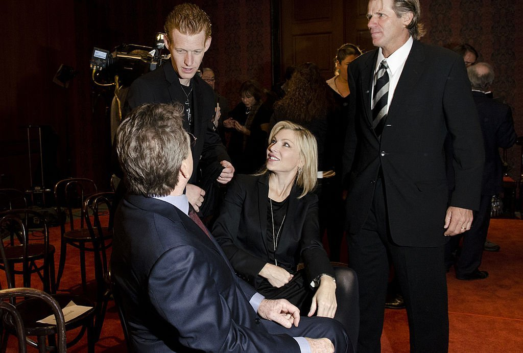 Ryan O'Neal, Redmond O'Neal and Tatum O'Neal speak after the Farrah Fawcett Memorabilia Donation | Getty Images/ Global Images Ukraine