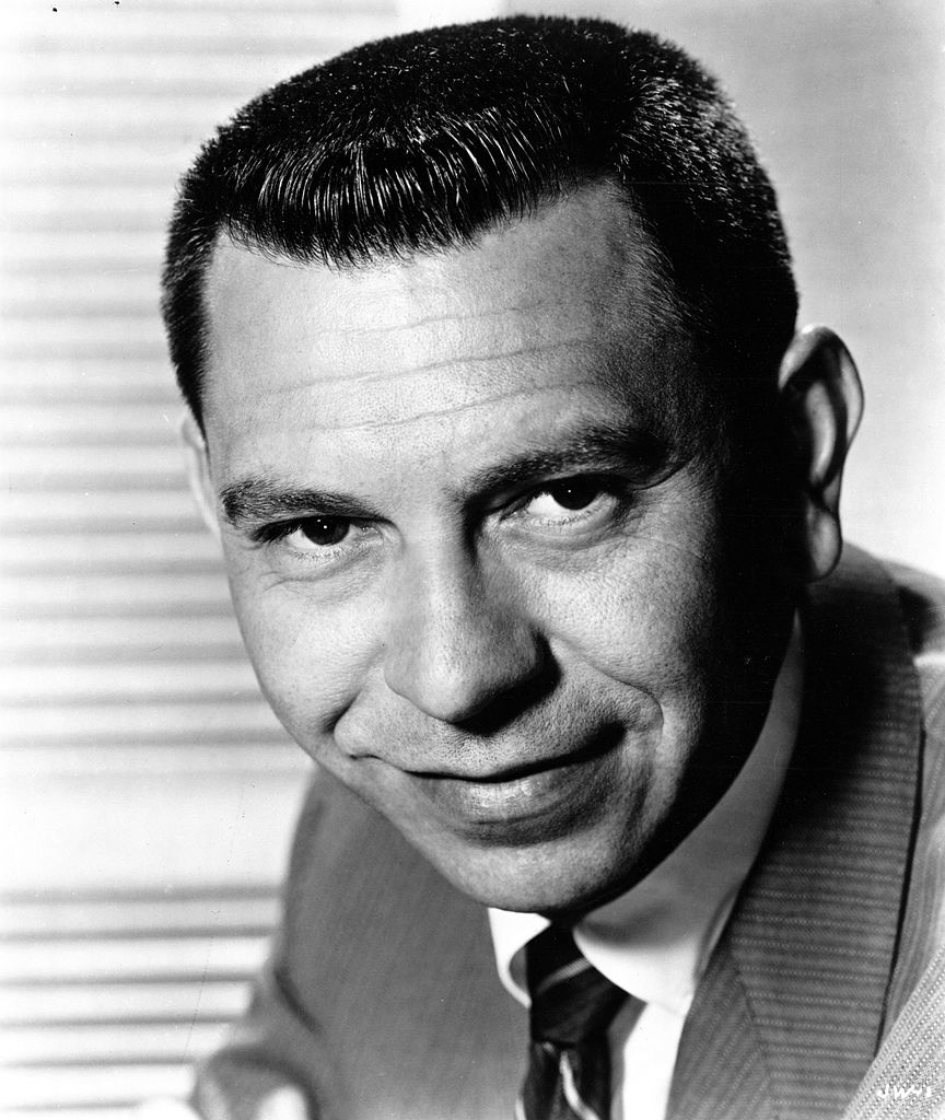 """Star of the TV series """"Dragnet"""" Jack Webb poses for a portrait in circa 1954 