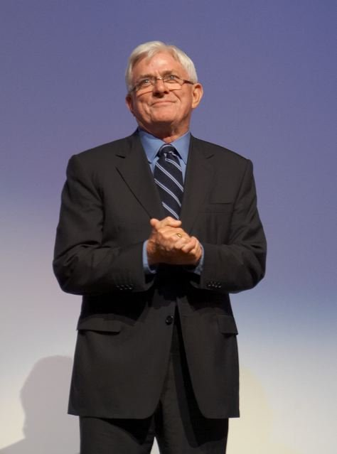 """Phil Donahue introduces the documentary """"Body of War"""" at the Toronto International Film Festival, September, 2007 