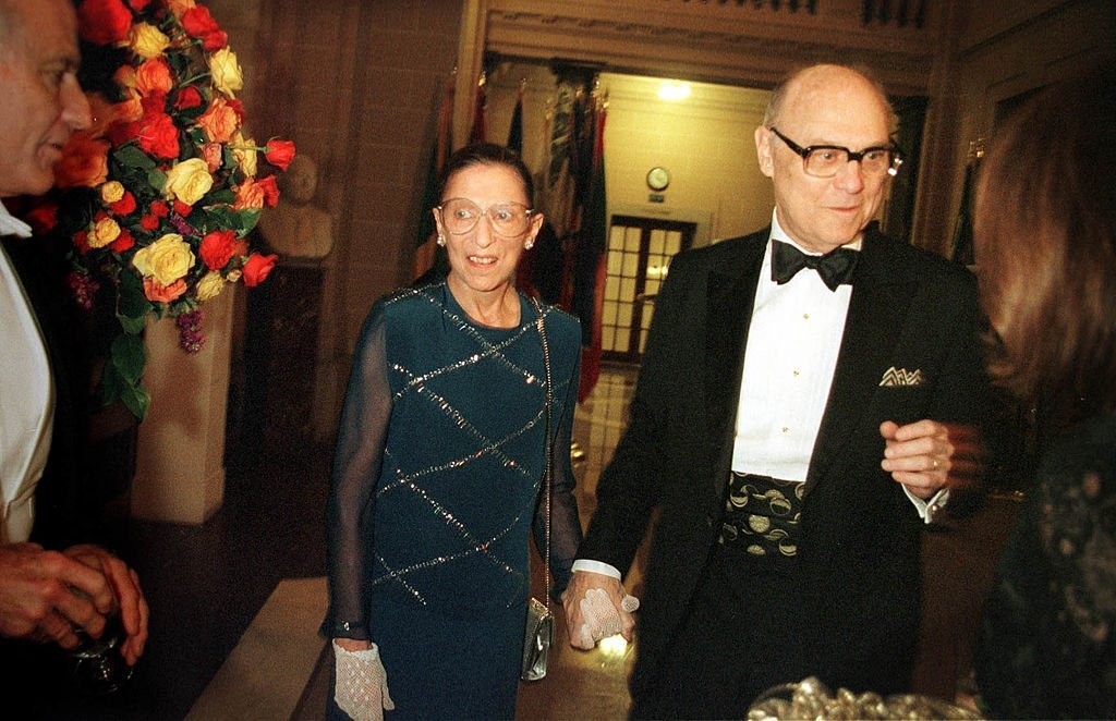 Justice Ruth Bader Ginsburg and her husband John Ginsburg at a gala opening night dinner  in Washington, D.C. | Photo: Getty Images