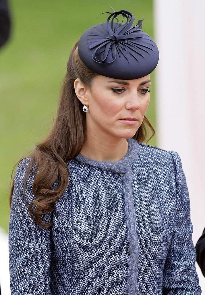 Catherine, Duchess of Cambridge at Vernon Park as she accompanies Queen Elizabeth II during a visit to the East Midlands as part of her Diamond Jubilee tour of the UK | Photo: Getty Images