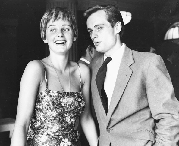 Jill Ireland (1936-1990) and David McCallum together at an event in 1958 | Photo: Getty Images