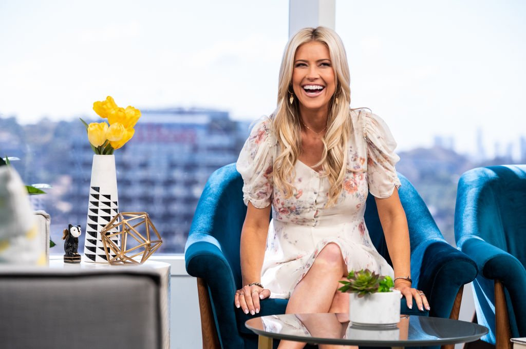 """Christina Haack on the set of """"Daily Pop"""" during Season 19 episode 190522 