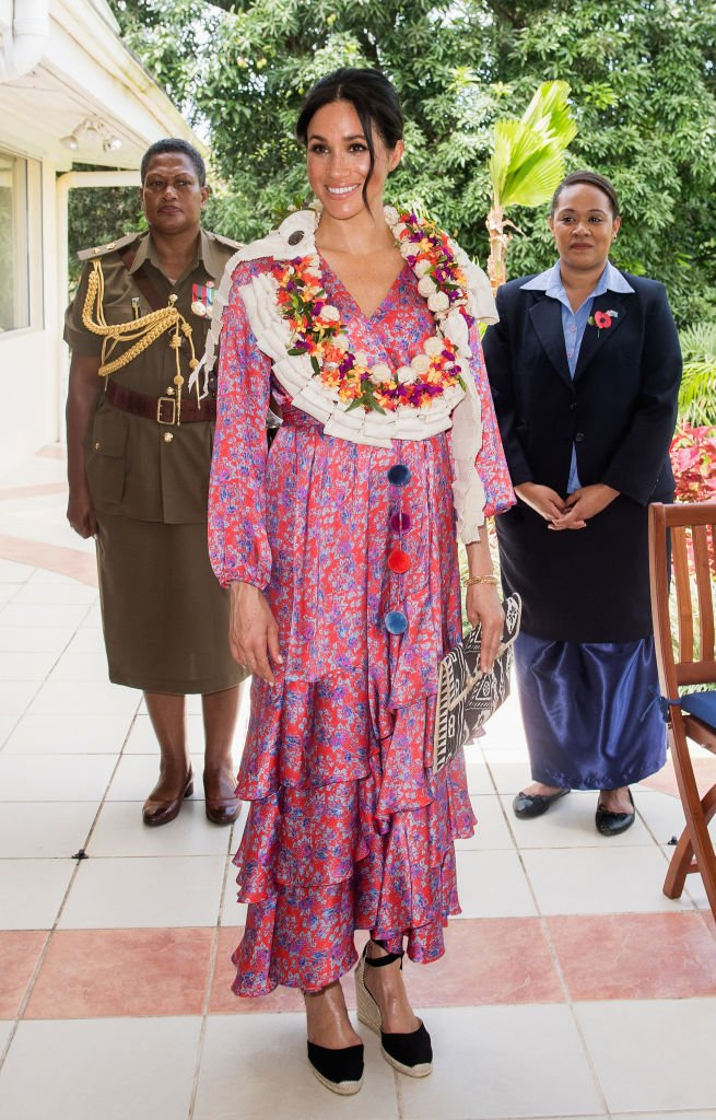 Meghan Markle attends a morning tea reception at the British High Commissioner's Residence on October 24, 2018 in Suva, Fiji. | Photo: Getty Images