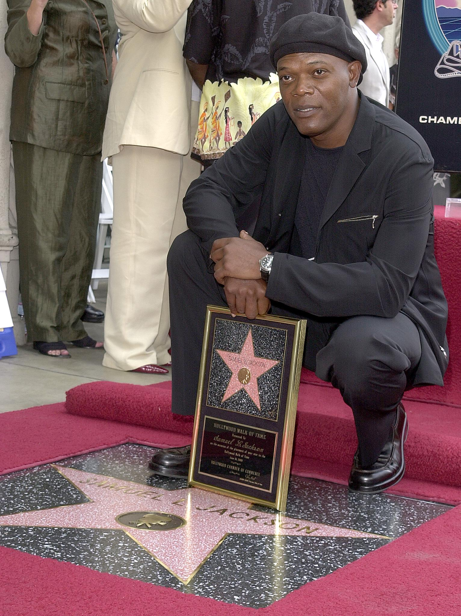 Samuel L. Jackson at the unveiling of his star on the Hollywood Walk of Fame June 16, 2000, in Los Angeles, CA. | Source: Getty Images.