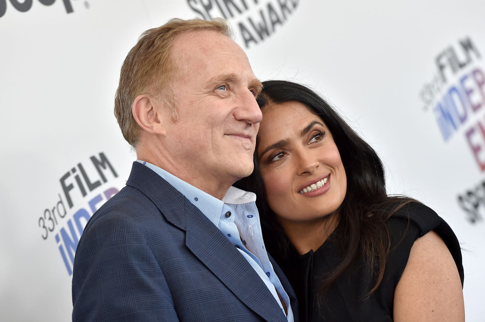 Francois-Henri Pinault and actress Salma Hayek at the Film Independent Spirit Awards on March 3, 2018, in Santa Monica, California | Photo: Axelle/Bauer-Griffin/FilmMagic/Getty Images