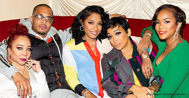T.I, Tiny Harris and Monica Brown Celebrate T.I.'s Late Sister with Family Members and Friends
