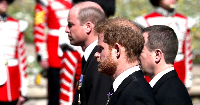 Prince William Reunites with Estranged Brother Harry as They Walk Behind Prince Philip's Coffin