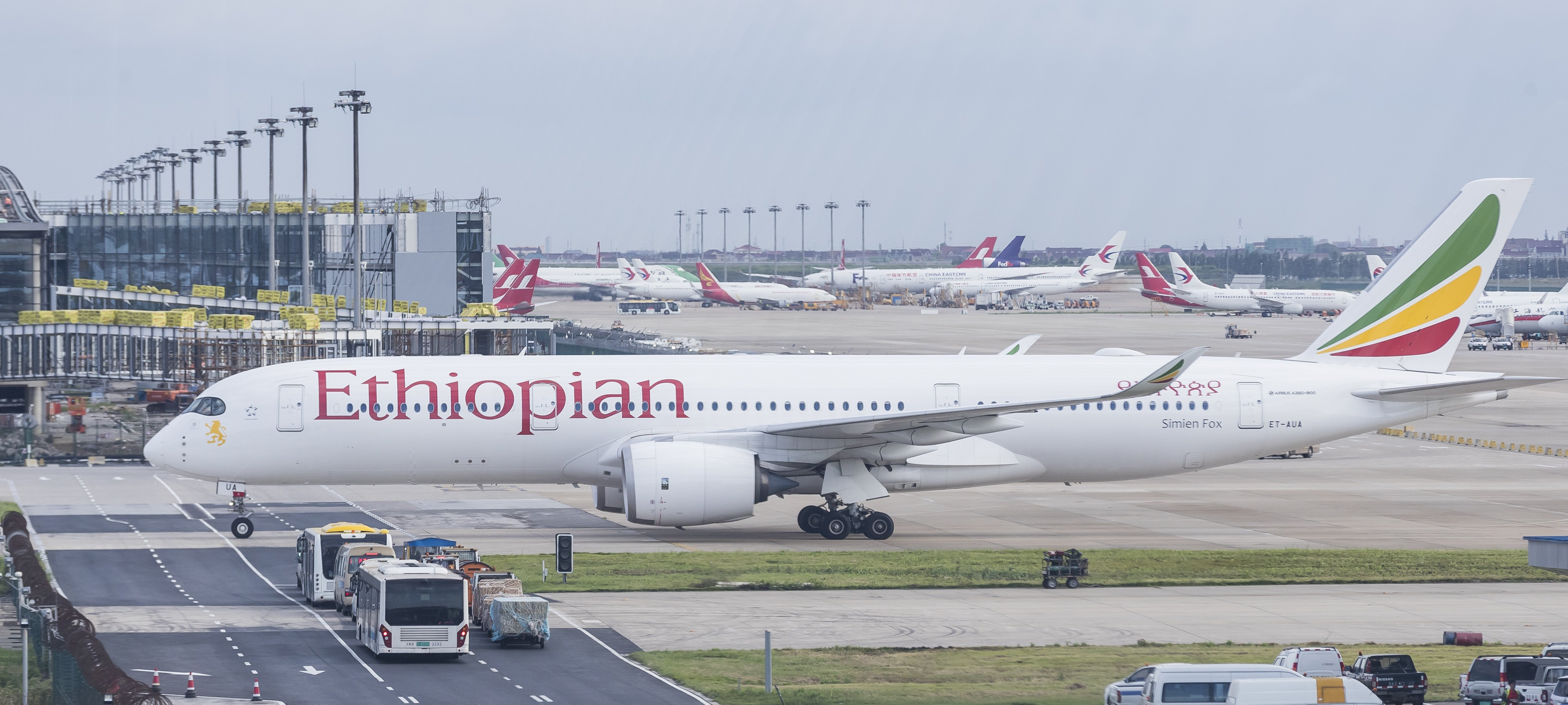 An Ethiopian Airlines aircraft at the airport | Photo: Getty Images