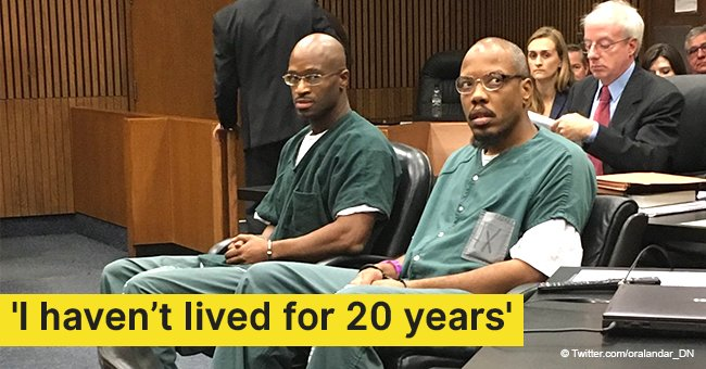 Two black men are finally free after spending 20 years in prison for a murder they didn't commit