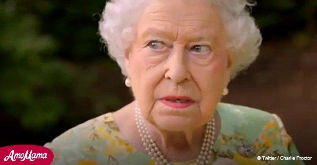 La Reine Elizabeth a fait l'une de ses rares blagues quand un hélicoptère a interrompu son discours