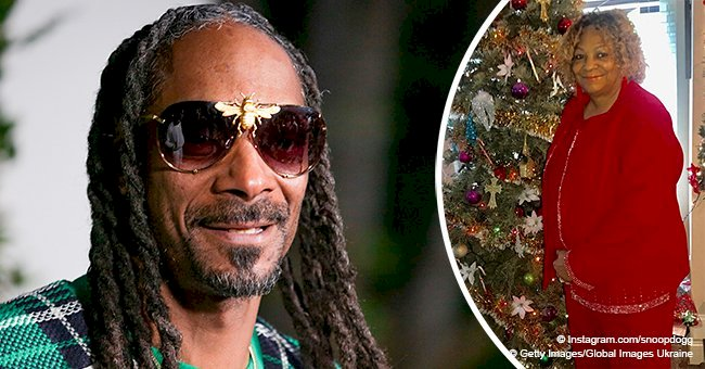 Snoop Dogg shows love for his mom with holiday photo of her in all red outfit near Christmas tree