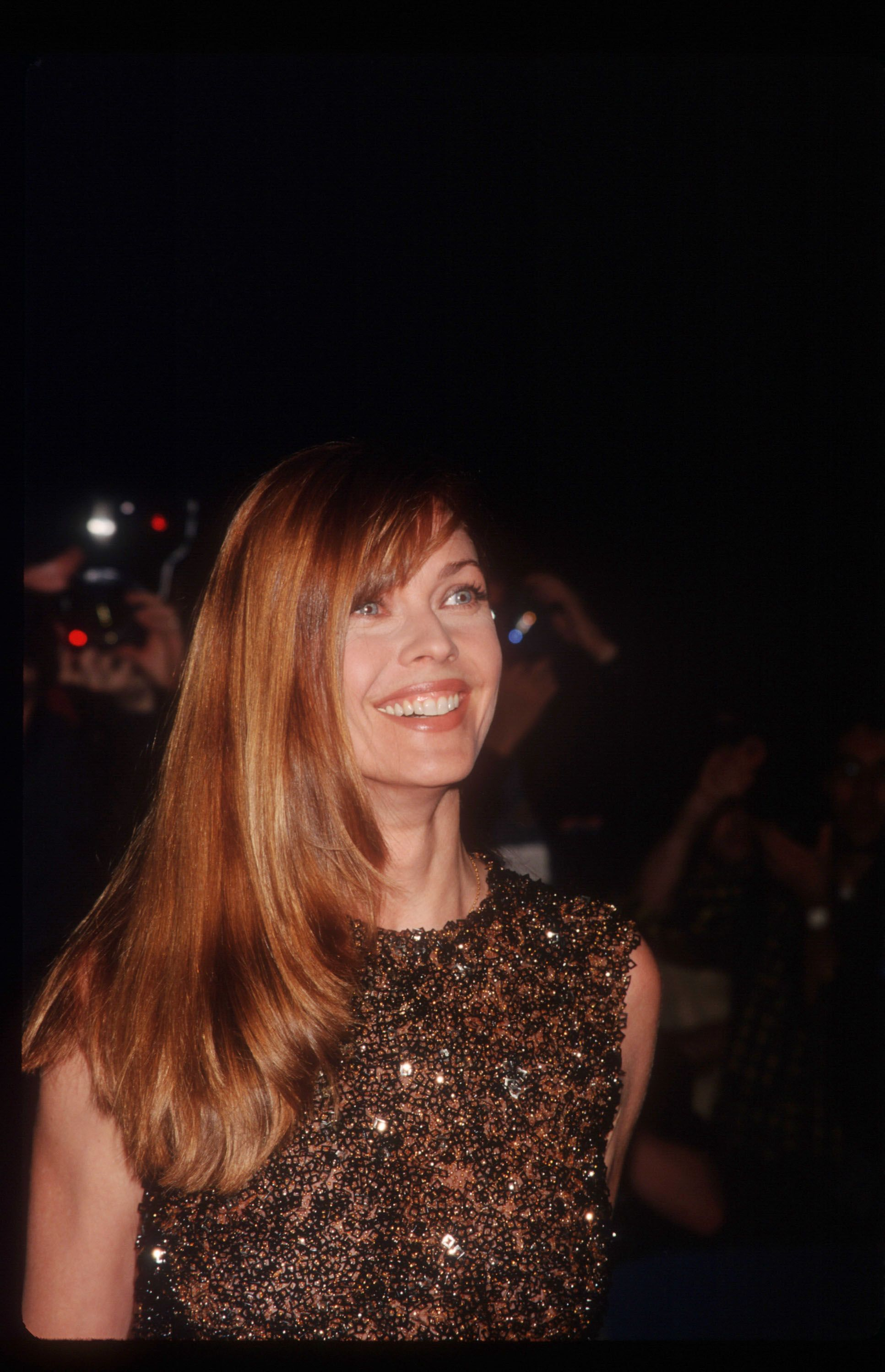 """Carol Alt atthe premiere of the film """"Bulworth"""" on April 30, 1998, in New York City 