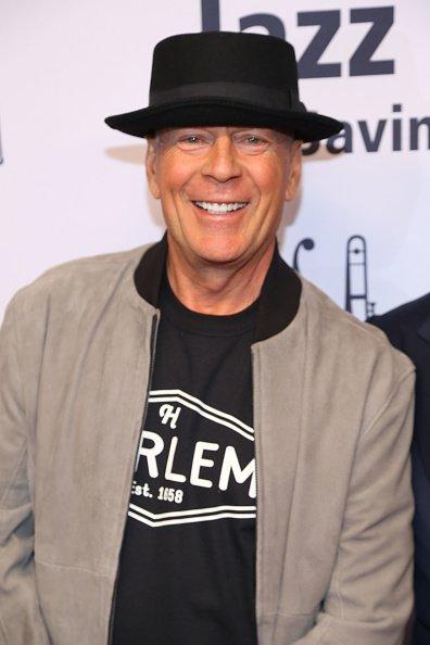 Bruce Willis à la 17e édition de la soirée Une grande nuit à Harlem, à New York. Photo: Getty Images.