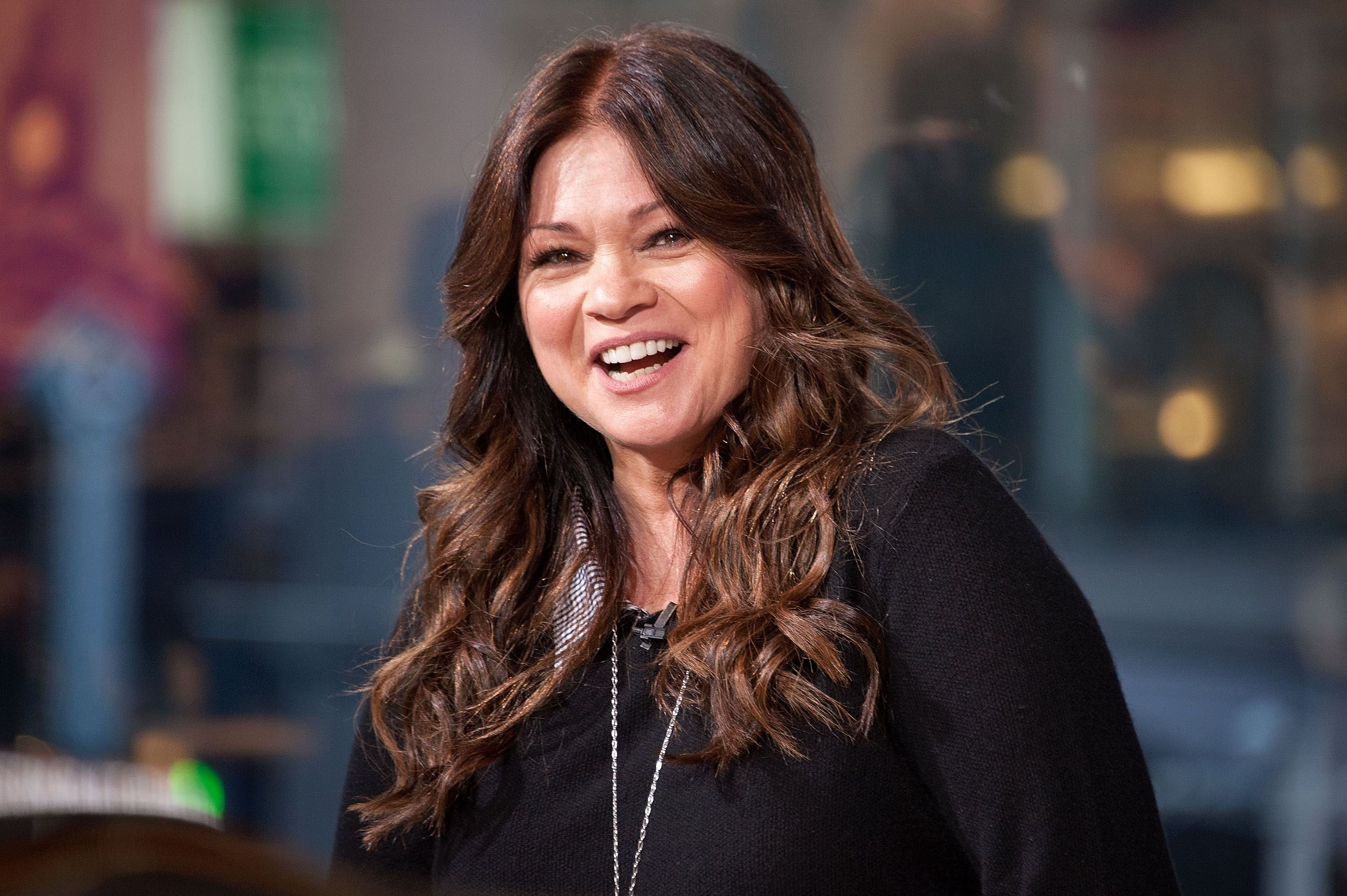 "Valerie Bertinelli visits ""Extra"" at their New York studios at H&M in Times Square on November 4, 2015 