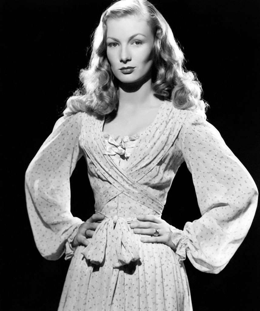 """Actress Veronica Lake in a scene from the movie """"Ramrod"""" on January 01, 1947 
