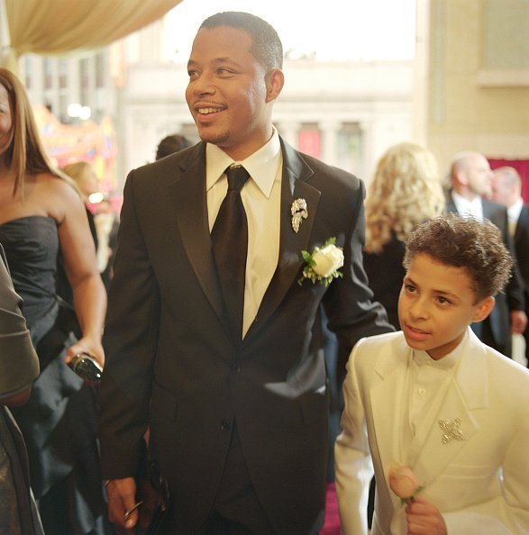 Terrence Howard and his son Hunter arrive at the 78th annual Academy Awards | Photo: Getty Images