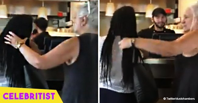 Black woman's reaction goes viral after confronting white woman who repeatedly played with her hair