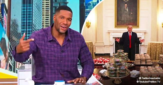 Michael Strahan offers Clemson Tigers 'a great meal' with lobster after Trump's fast food feast