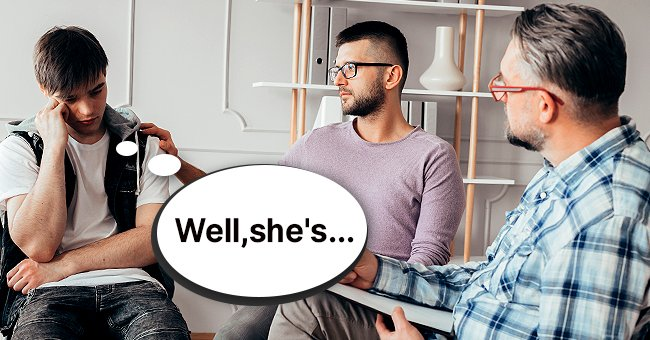 The men thought hard about the therapist's question. | Photo: Shutterstock