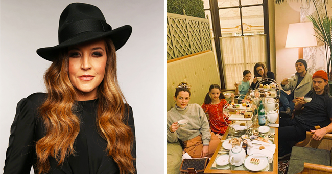 Lisa Marie Presley Enjoys 'Tea Time' with Her 3 Daughters