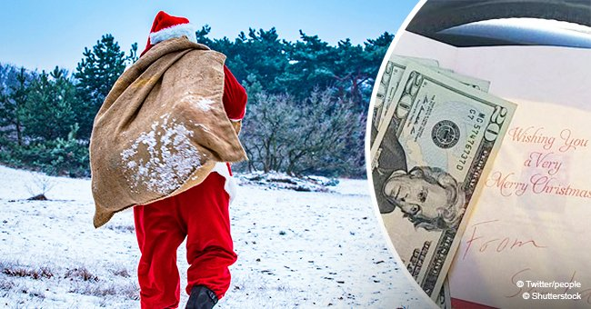 Mystery Santa brings happiness to strangers' lives with holiday cards full of cash