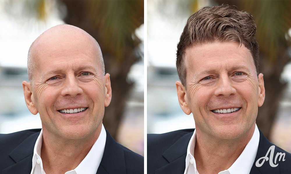 Bruce Willis with a full head of hair!