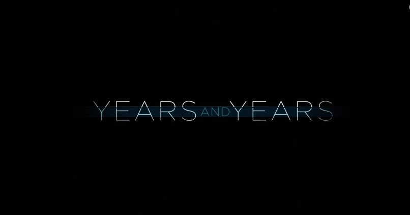 "Photo of a ""Years and Years"" text 