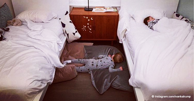 Ivanka Trump Sparks Heated Debate after Posting a Pic of Her Youngest Son Sleeping on the Floor