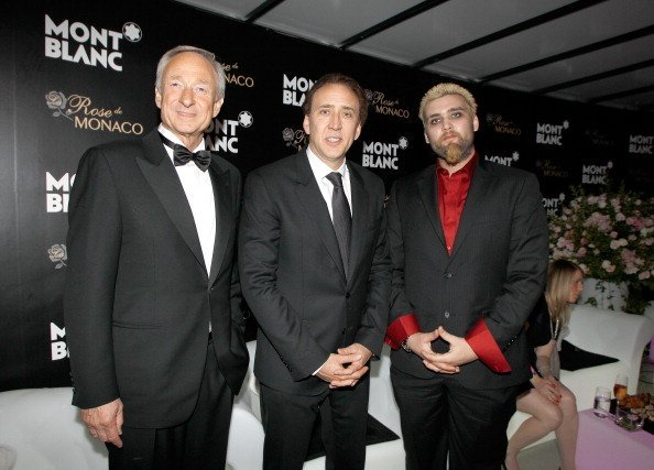Lutz Bethge, Nicolas Cage and Weston Coppola Cage at the Montblanc Sanlitun Concept Store on June 1, 2012 in Beijing, China | Photo: Getty Images