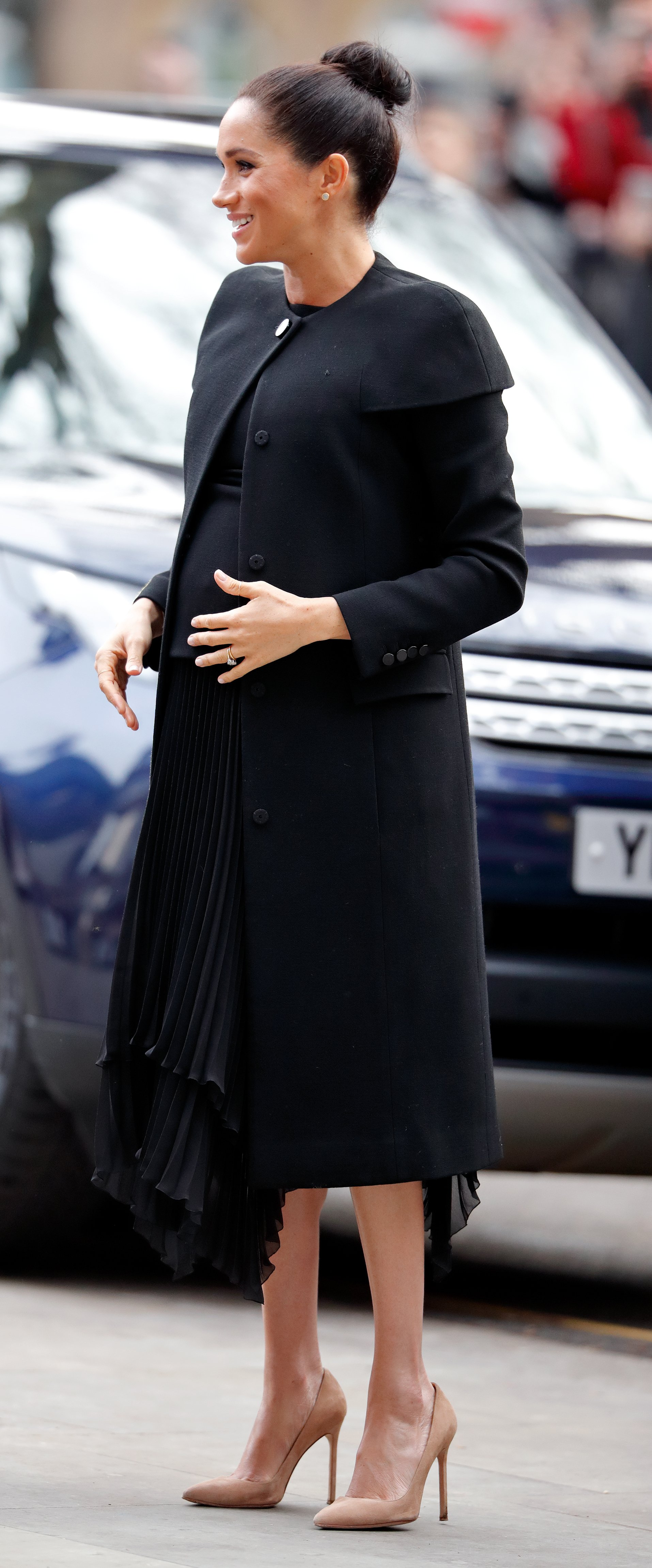 Meghan, Duchess of Sussex attends an engagement with the Association of Commonwealth Universities (ACU) at City, University of London on January 31, 2019 in London, England. | Source: Getty Images
