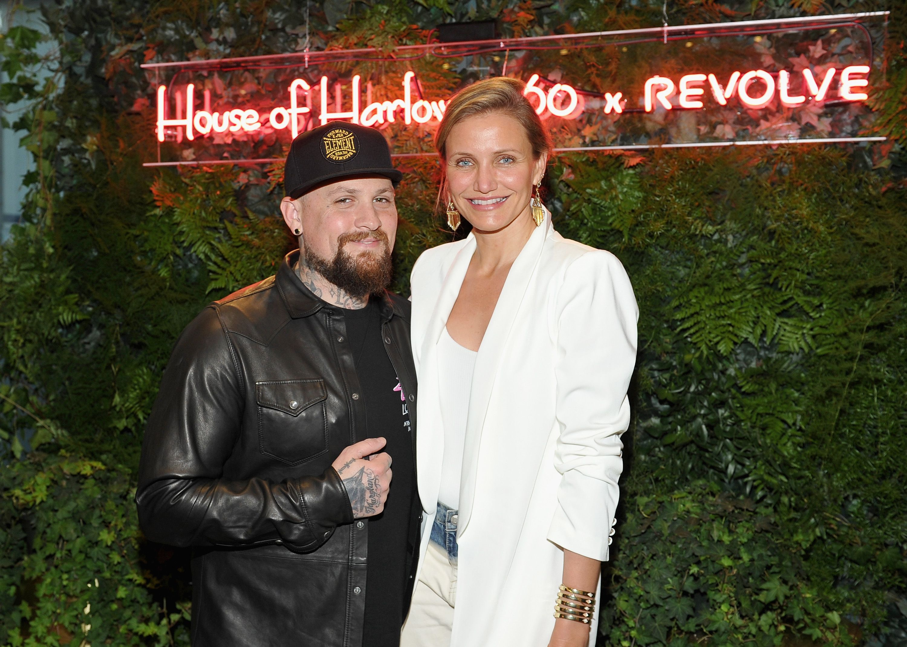 Guitarist Benji Madden and actress Cameron Diaz at House of Harlow 1960 x REVOLVE on June 2, 2016 | Photo: Getty Images