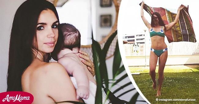 Elena Furiase presume de su figura nueve meses después de dar a luz