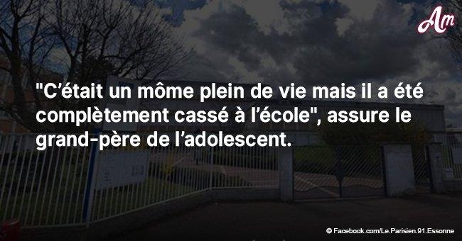 La tragédie en Essonne: Un collégien s'est suicidé après qu'il ait été persécuté