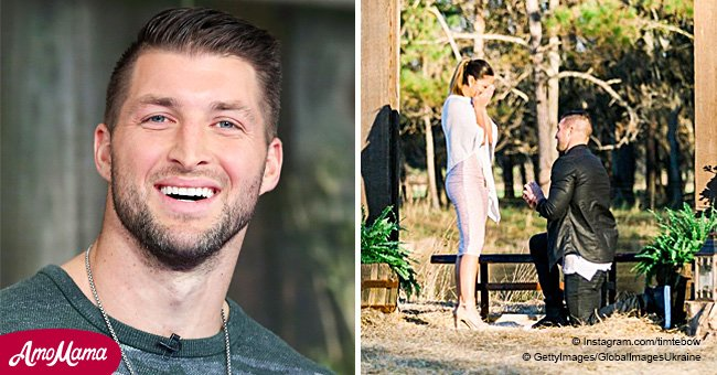 Tim Tebow got engaged to former Miss Universe and posted gorgeous photos from the happy event