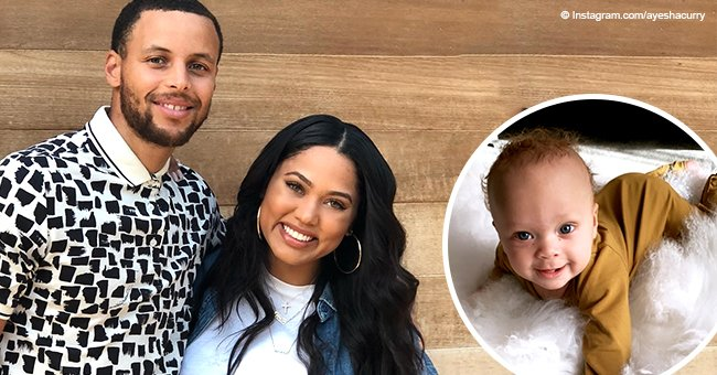 Steph Curry's wife melts hearts with pic of 5-month-old son flashing bright smile in brown outfit