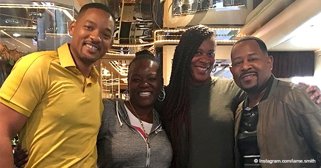 Will Smith & Martin Lawrence bring their rarely-seen sisters & nieces to 'Bad Boys 3' set