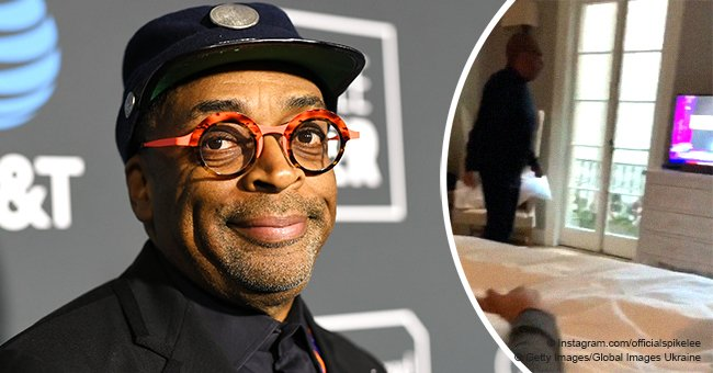 Spike Lee jumps for joy after receiving his first-ever Best Director Oscar nomination