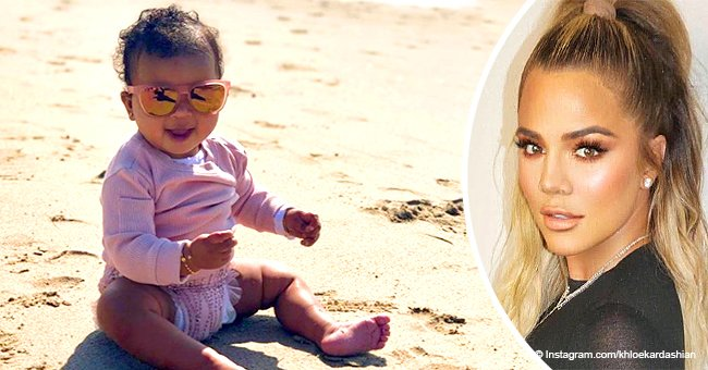 Khloe Kardashian's daughter True soaks up sun in pink sweater & sun glasses in cute beach pics