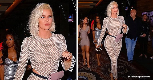 Khloé Kardashian Flaunts Hourglass Curves in Fishnet Catsuit as She Celebrates BFF's Birthday